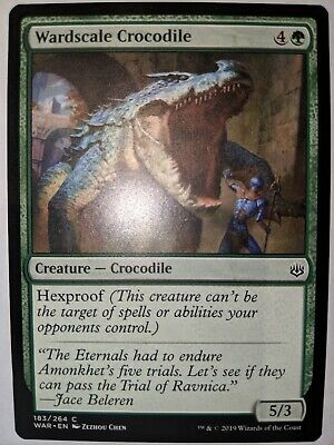 4x Wardscale Crocodile MTG War Of The Spark NM Magic Regular