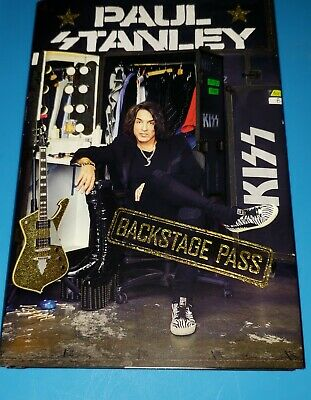 Signed Paul Stanley Backstage Pass Book KISS 1/1 Guitarist Ready 2 Ship