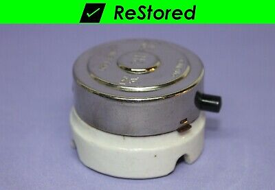 Vintage C-H Round Side Push Button Light Switch - Single-Pole - Chrome/Porcelain