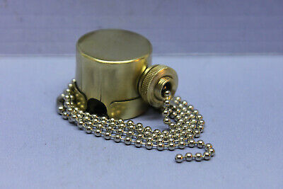 Antique Vintage Pass & Seymour P&S Brass Light Lamp Pull Chain Switch Fixture