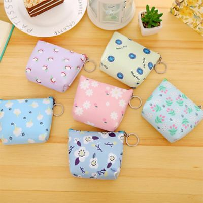 Earphone Container Exquisite Flower Pattern Coin Purse Wallet Key Storage Bag