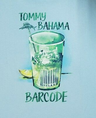 84affcfaa Tommy Bahama BAR CODE T Shirt Mens MEDIUM Blue drinks cocktails Relax - NEW