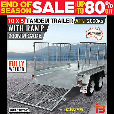 New 10x5 Tandem Axle Trailer with 900 mm Cage from Xtreme Trailers