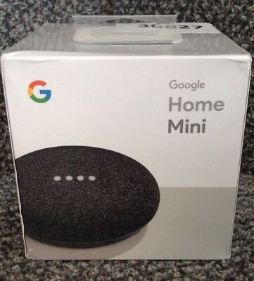 Google Home Mini Smart Speaker Charcoal BRAND NEW 2 Pack Bundle Voice Activated