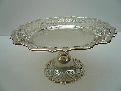 Silver Comport, Dish, Sterling, English, Tableware, Hallmarked 1898