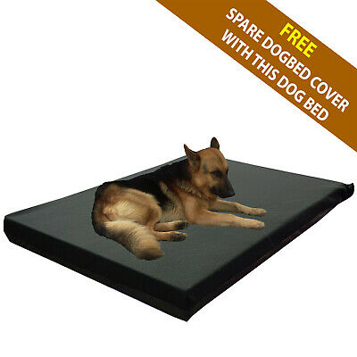 Cosipet® Large Waterproof Foam Pad Black Fleece Dog Bed Free Spare Cover !!!!!