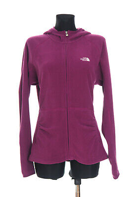 BNWT The North Face Polartec Women's Purple Zip front Hooded Top Jacket Size XL