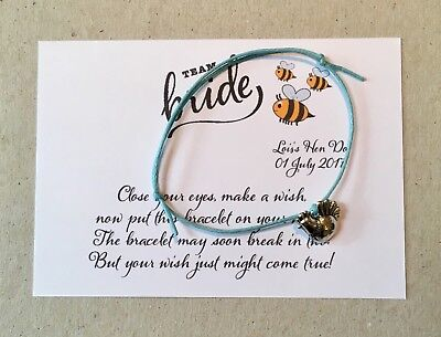 0a8df9814a635 HEN NIGHT/PARTY FRIENDSHIP/WISH BRACELETS Hen Do Cards Top Quality ...