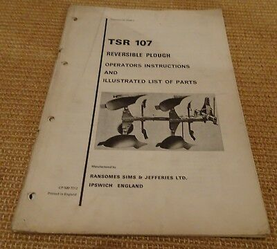 Reversible Plough Operating Instructions Collectables Salopian Huard