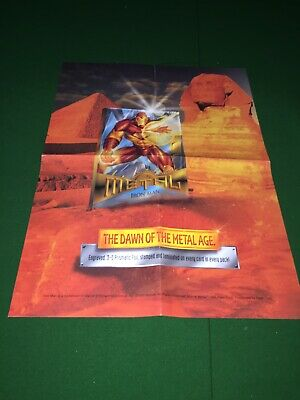 1995 Marvel Metal Master Card Set with Binder And Ironman Promo Poster