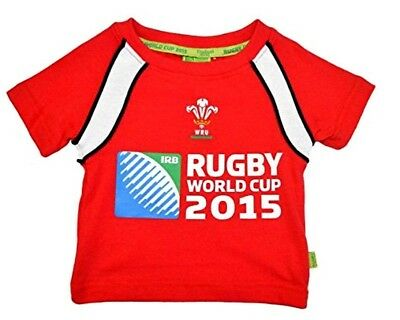 Baby Boys Girls Kids Wales Welsh Official Wru 2015 Rugby World Cup Tshirt W-004