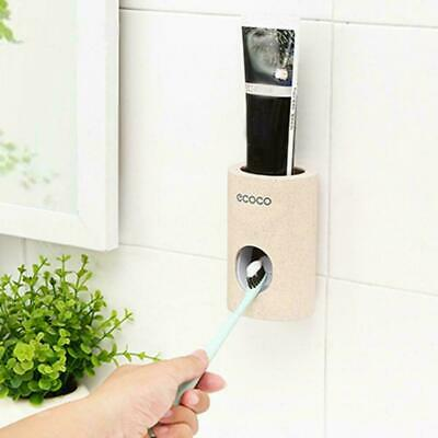 Device-Automatic Toothpaste Squeezer Dispenser Toothbrush Holder Extrusion Home