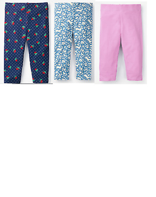 Girls MINI BODEN leggings cropped 2 - 16 yrs strawberry wild ponies pink