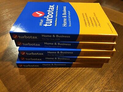 NEW Turbotax Home & Business 2018 5 Federal E-Files + Printable State