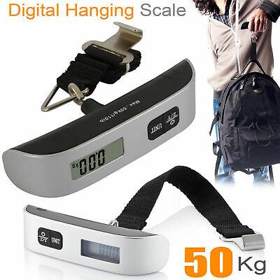 Handheld Portable Electronic Hanging Digital Luggage Travel Weight Scale 110lb