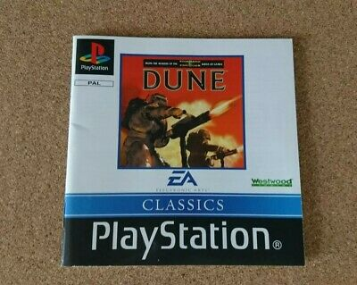 Dune PS1 Instruction Manual Only Playstation 1