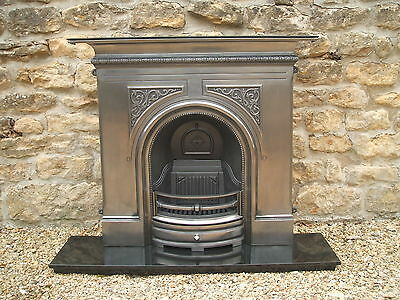 New Gallery PEMBROKE POLISHED solid fuel cast iron fireplace.