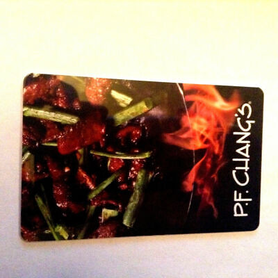 P. F. Chang's vegetable COLLECTIBLE GIFT CARD --0--VALUE RECHARGEABLE
