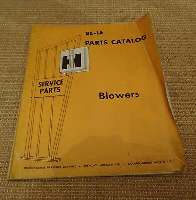 IH Blowers parts catalogue 45 47 56