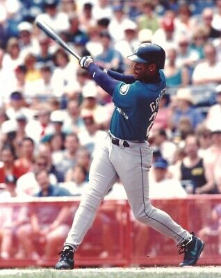 c3c2365597 KEN GRIFFEY JR 8x10 Licensed MLB Action Photo @ Spring Training SEATTLE  MARINERS