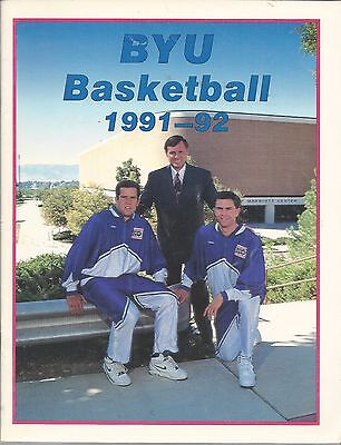 BYU COUGAR BASKETBALL 1991-92 MEDIA GUIDE. Record 25-7 (2-0 vs. Utah)