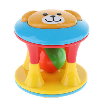 Baby Rattles Funny Toys Intelligence Plastic Hand Bell Educational Gift C