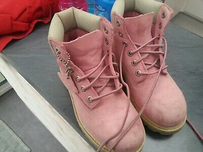 BOOTS TIMBERLAND WATERPROOF fille taille 32 couleur rose