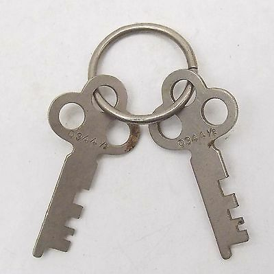 Vintage KEYS For Lock, Padlock, Trunk, MATCHED SET Key Number 0344 1/2