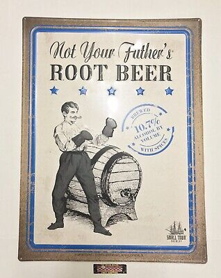 """Small Town Not Your Father's Root Beer 10.7% Metal Beer Sign 24x18"""" - Brand New!"""
