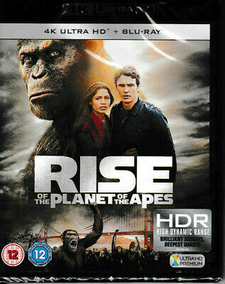 Rise of the Planet of The Apes - 4k Ultra HD + Blu-Ray - Brand New & Sealed