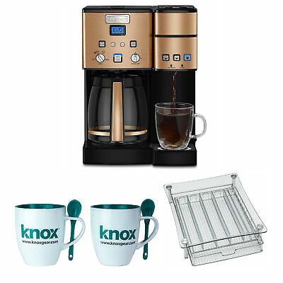 Cuisinart SS-15CP 12 Cup Coffee Maker And Single-Serve Brewer, Copper Bundle