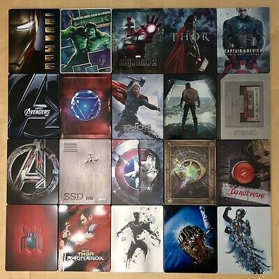 Marvel Studios Complete Steelbook Blu-Ray Collection Iron Man Cap Thor Avengers