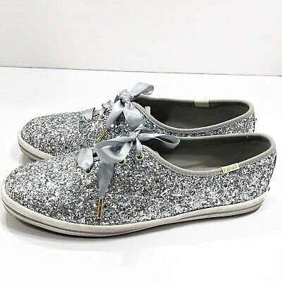 02617700a155 KEDS X KATE Spade Rose Gold Glitter Ribbon Lace Up Sneakers 9 Worn ...