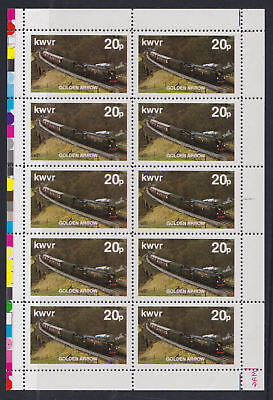Great Britain 1980 Keighley & Worth Valley Railway Letter Sheet Golden Arrow