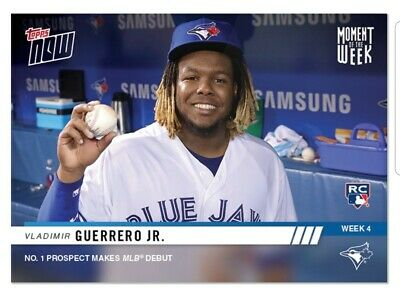 Vladimir Guerrero Jr. RC 2019 Topps NOW MOW #4 Moment of the Week MLB Debut