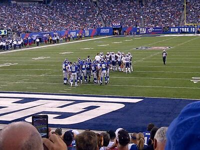 New York Giants vs New York Jets 8/8/19 - TWO Tickets - Field Level