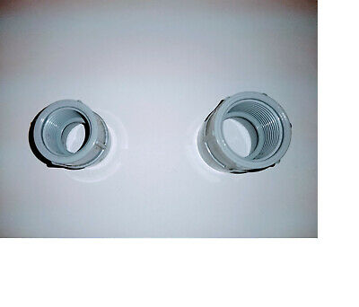 3/4 Pvc Male Adaptor(9), With 3/4 Locknut (9), And (20) 3/4 Pvc 2-Hole Straps