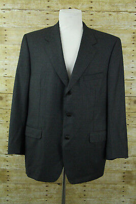 Canali Gray Wool 3-Button Blazer Men Sz 46R Sport Coat Suit Jacket Made in Italy
