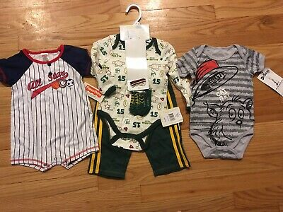NWT LOT Baby Boy Clothes 12 And 18 Months Dr Seuss's Baseball Football