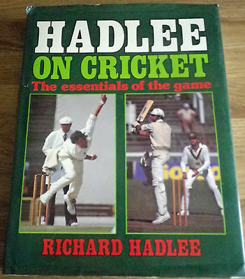 HADLEE ON CRICKET The Essentials of the Game, Richard Hadlee Book ***SIGNED***