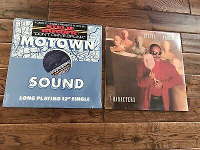 2 STEVIE WONDER SEALED VINYL RECORDS LPs CHARACTERS 1987 & MOTOWN SOUND 1981