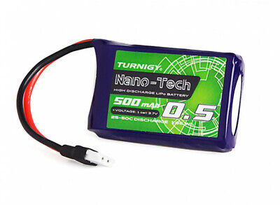 Turnigy Nano-Tech 500mAh 1S 3.7V 25C 50C LiPo Battery 2pin Molex Connector Losi