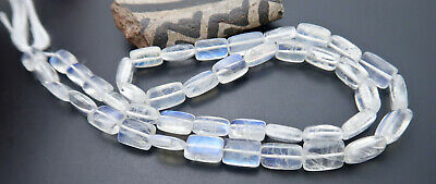 """43 GORGEOUS GLOWING AAAA+ BLUE TEAL FLASH MOONSTONE BEADS 77cts 14"""" 3.2-6.6mm"""