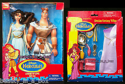 Disney 100% True Mattel 17261 Disney Hercules Megara Doll lot 3