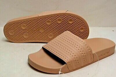 quality design 19df6 22d10 NEW ADIDAS WOMEN S ORIGINALS ADILETTE SLIDES CQ2235 ASH PEARL Brown Size 9