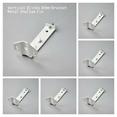 4x VERTICAL BLINDS SHALLOW FIX BRACKETS FOR 89MM HEADRAIL - WHITEL METAL