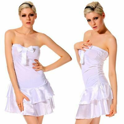 New Fashion Sexy Women's Bow Strapless Backless Boat Neck Slim A-line N98B 01