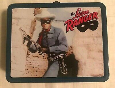 1997 The Lone Ranger Tin Metal Lunch Box Clayton Moore
