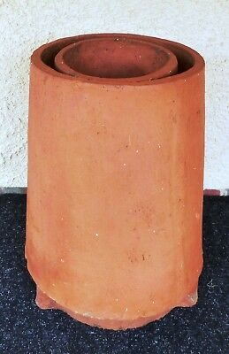 CHIMNEY POT - Rare 2 Sleeve  Vintage Terracotta   Price reduced