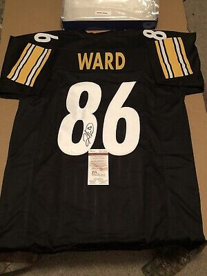 8a237053c Hines Ward Signed autographed Pittsburgh Steelers Custom Black Jersey.  Jsa coa